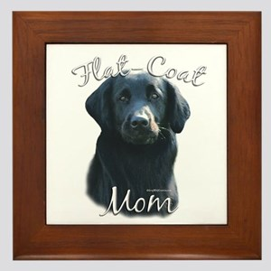 Flat-Coat Mom2 Framed Tile