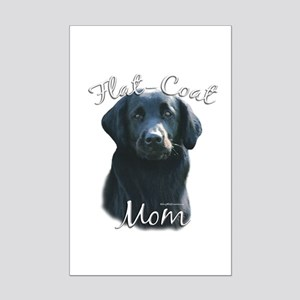 Flat-Coat Mom2 Mini Poster Print