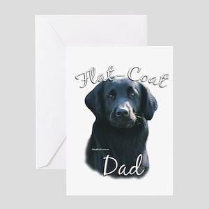Flat-Coat Dad2 Greeting Card
