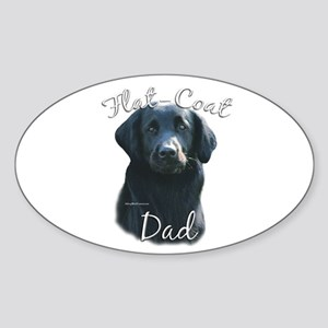 Flat-Coat Dad2 Oval Sticker
