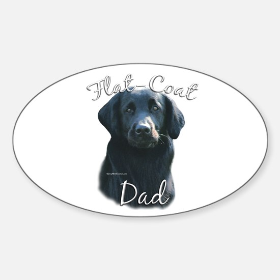 Flat-Coat Dad2 Oval Decal