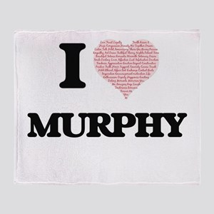 I Love Murphy Throw Blanket