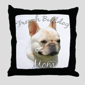 Frenchie Mom2 Throw Pillow