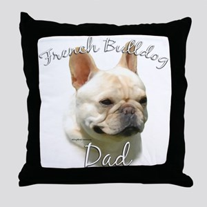 Frenchie Dad2 Throw Pillow