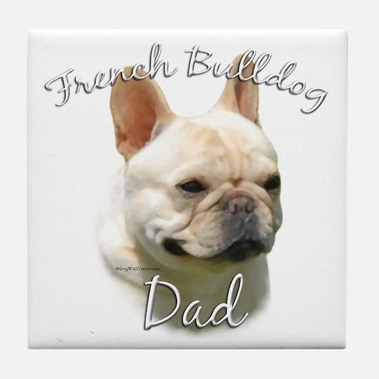 Frenchie Dad2 Tile Coaster
