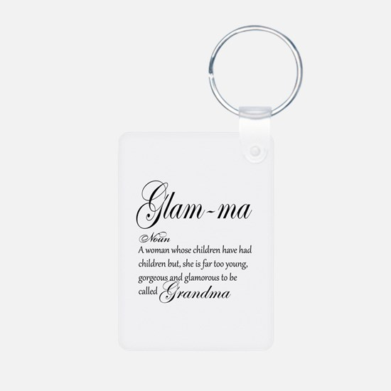 Glam-ma Grandma Hand lettered art Keychains