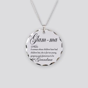 Glam-ma Grandma Hand lettered art Necklace