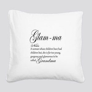 Glam-ma Grandma Hand lettered art Square Canvas Pi
