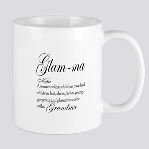 Glam-ma Grandma Hand lettered art Mugs