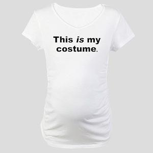 Minimalist Halloween Costume Maternity T-Shirt