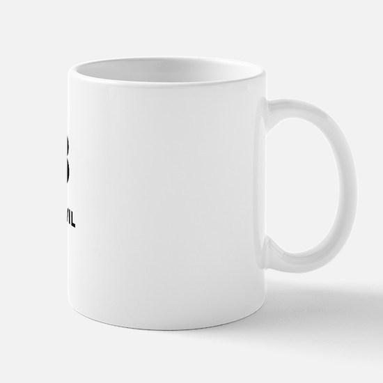I'm Only Half Evil Mug