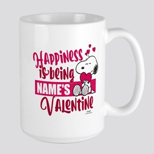 Snoopy Happiness is Being - Personalize Large Mug