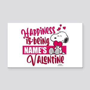 Snoopy Happiness is Being - P Rectangle Car Magnet