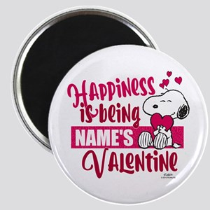 Snoopy Happiness is Being - Personalized Magnet