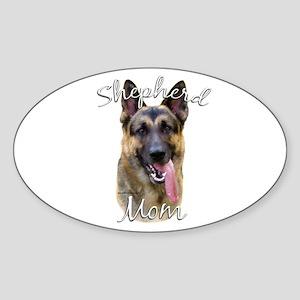 GSD Mom2 Oval Sticker