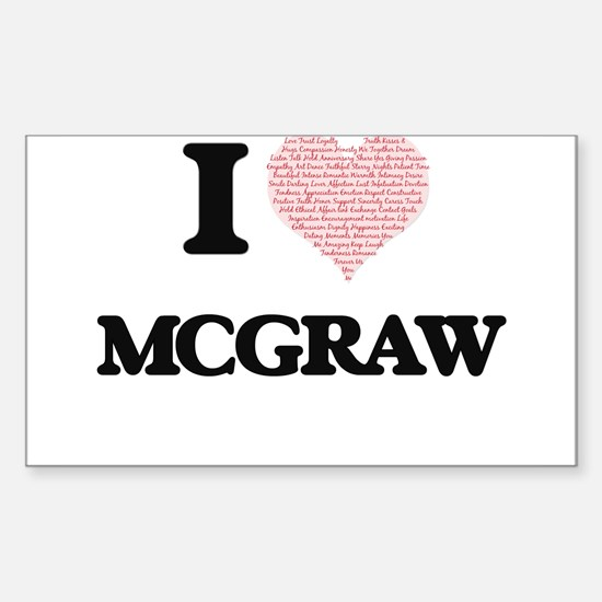 I Love Mcgraw Decal