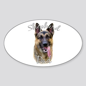 GSD Dad2 Oval Sticker