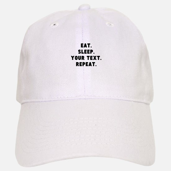 Eat Sleep Repeat Personalized Baseball Baseball Cap