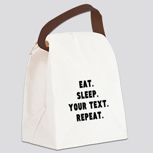 Eat Sleep Repeat Personalized Canvas Lunch Bag