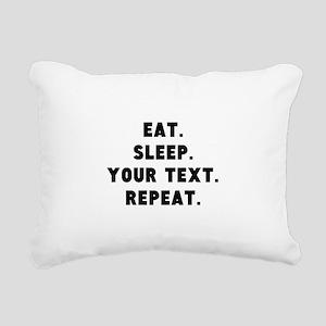Eat Sleep Repeat Persona Rectangular Canvas Pillow