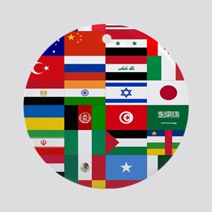 Country Flags Round Ornament