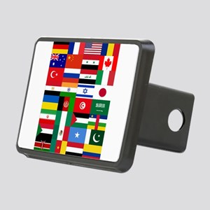 Country Flags Rectangular Hitch Cover