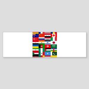 Country Flags Bumper Sticker
