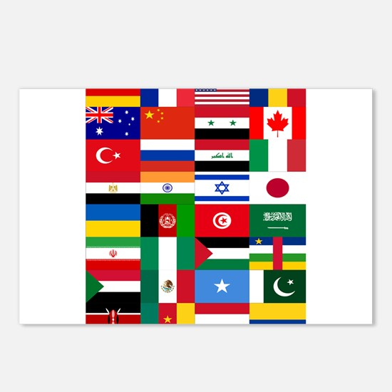 Country Flags Postcards (Package of 8)