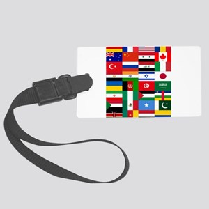 Country Flags Large Luggage Tag
