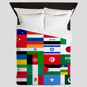 Country Flags Queen Duvet