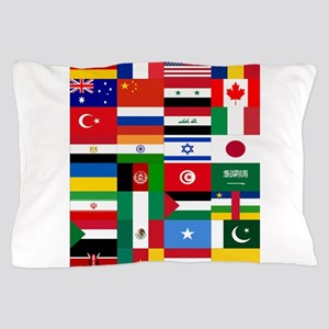 Country Flags Pillow Case