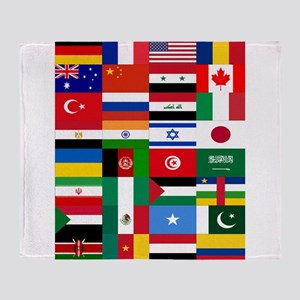 Country Flags Throw Blanket