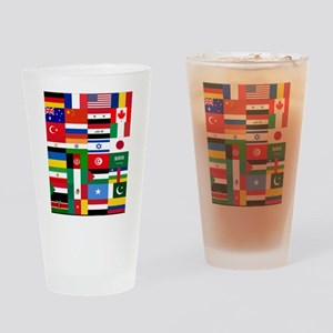 Country Flags Drinking Glass