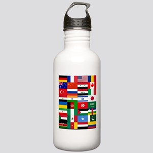 Country Flags Sports Water Bottle