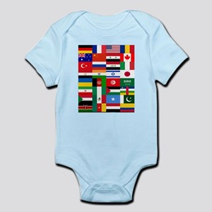 Country Flags Body Suit