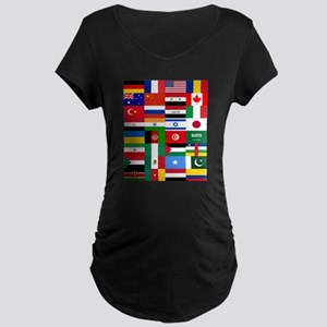 Country Flags Maternity T-Shirt