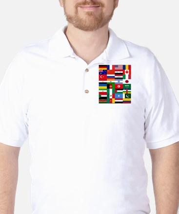 Country Flags Golf Shirt