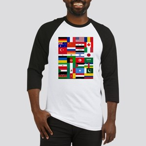 Country Flags Baseball Jersey