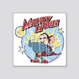 "Mighty Mouse: Vintage Hero Square Sticker 3"" x 3"""