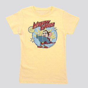 Mighty Mouse: Vintage Hero Girl's Tee
