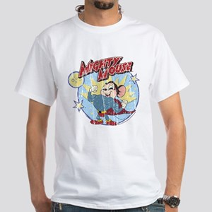 Mighty Mouse: Vintage Hero White T-Shirt