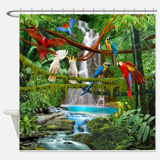 Cute Jungle Shower Curtain