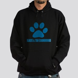 Black and Tan Coonhound Hound Dog De Hoodie (dark)