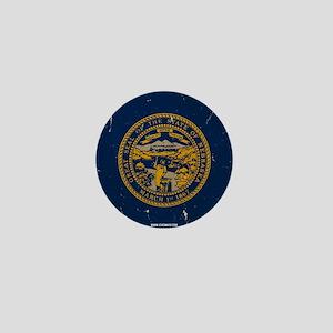 Nebraska State Flag VINTAGE Mini Button