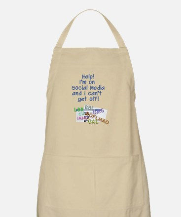can't get off Facebook Apron