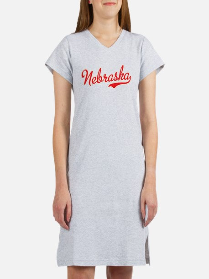 Nebraska Script Font Women's Nightshirt