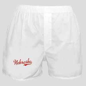 Nebraska Script Font Boxer Shorts