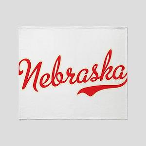 Nebraska Script Font Throw Blanket