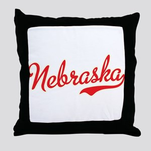 Nebraska Script Font Throw Pillow
