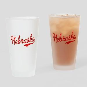 Nebraska Script Font Drinking Glass